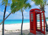 Antigua phone box — Stock Photo