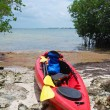 Stock Photo: Kayak expedition