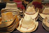Straw cowboy hats — Stock Photo