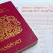 Passport application - Stock Photo