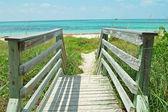 Walkway to beach — Stock Photo