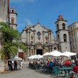 Havana restaurant and cathedral — Stock Photo #49051583