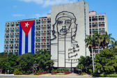 Cuban Flag and Che Guevara — Stock Photo