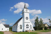 Canadian white church — Stock Photo