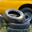 Old wheels. - Stock Photo