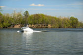 Boating on the James River — Stock Photo