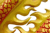 Golden Chinese dragon on isolate background — Foto de Stock