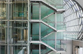 Merdiven korkulukları, kapalı ile, — Stok fotoğraf
