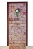Lantern on wall vintage design — Stock Photo