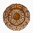 Pattern of flower carved on wood isolate background  — Stock Photo #50786159