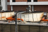 Air conditioner water system on roof — Foto Stock
