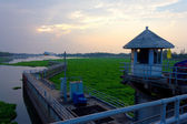 Landscape of Chaopraya dam Thailand — Stock Photo