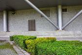 современное здание дизайн сада — Стоковое фото