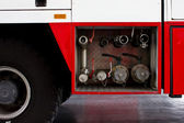 Fire truck emergency protection firefighter — Stock Photo
