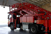 Fire truck emergency protection firefighter — Stockfoto