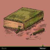Libro — Vettoriale Stock