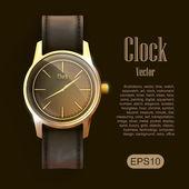 Klok horloge — Stockvector
