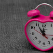 Stockfoto: Valentine heart alarm clock - poctcard background