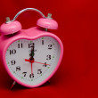 Time to Love - valentine alarm clock — Stock Photo