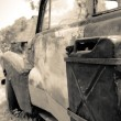 Old rusty vintage car — Stock Photo