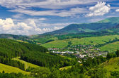 View from the top to a small town — Stock Photo