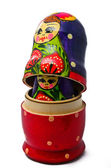 Opened Russian nesting doll — Stock Photo