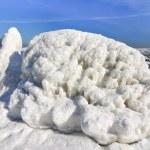 Frozen ice ocean coast - polar winter — Stock Photo #47082465