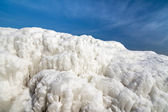Frozen ice ocean coast - polar winter — Stock Photo