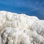 Frozen ice ocean coast - polar winter — Stock Photo #47138169