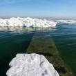 Frozen ice ocean coast - polar winter — Stock Photo #47138239