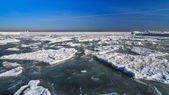 Frozen ice ocean coast - polar winter  — Foto Stock