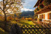 A typical bavarian house with garden — Stock Photo