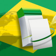 2014 Brazil world soccer championship flag — Photo