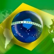 Stock Photo: Brazil flag world cup full frame for 2014 world soccer championship