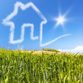 Concept for ecology real estate for sale or buy — Stock Photo