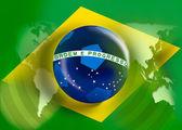 Brazil flag world cup full frame for the 2014 world soccer championship — Stock Photo