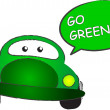 Go green — Stock vektor