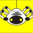Stock Vector: Robot spider