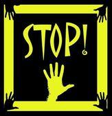 Stoppen! gelb — Stockfoto