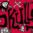 Stock Photo: Skulls red