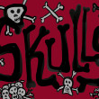 Stock Photo: Skulls canvas