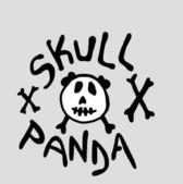 Czaszka panda — Zdjęcie stockowe
