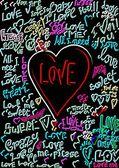 Miłość neon — Zdjęcie stockowe