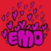 Emo hearts — Stock Photo