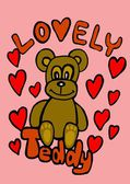 Teddy bear lovely — Stock Photo