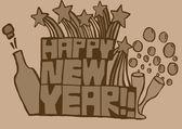 Happy new year vintage — Stock Photo