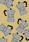 Coffeepot pattern — 图库照片