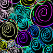 Stock Photo: Neon Spirals