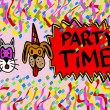 Pets party time — Stock Photo #40158507