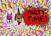 Haustiere-partytime — Stockfoto